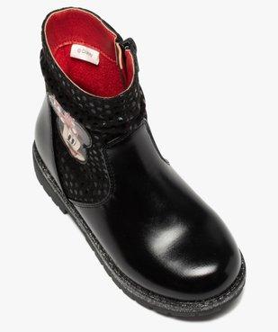 Boots fille à semelle crantée et finitions pailletées - Minnie  vue6 - MINNIE - GEMO