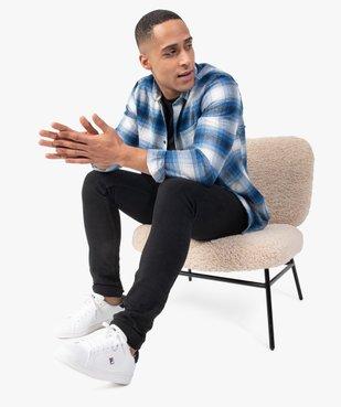 Chemise homme à carreaux et manches longues en flanelle vue1 - GEMO (HOMME) - GEMO