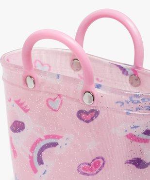 Bottes de pluie fille pailletées motif licorne avec anses vue6 - GEMO (ENFANT) - GEMO