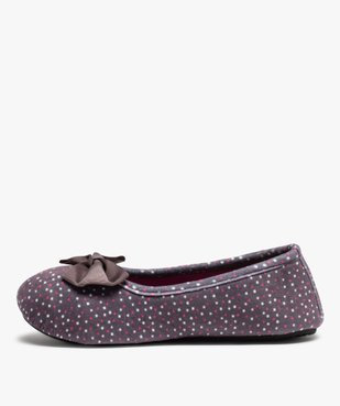 Chaussons femme forme ballerine à pois - Isotoner vue3 - ISOTONER - Nikesneakers