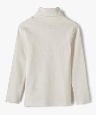 Tee-shirt fille à manches longues et col roulé vue4 - GEMO C4G FILLE - GEMO