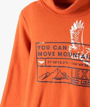 Tee-shirt garçon imprimé à manches longues et col montant vue2 - GEMO (ENFANT) - GEMO