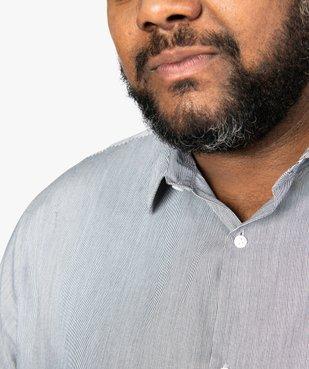 Chemise homme rayée à manches longues repassage facile vue2 - GEMO (G TAILLE) - GEMO