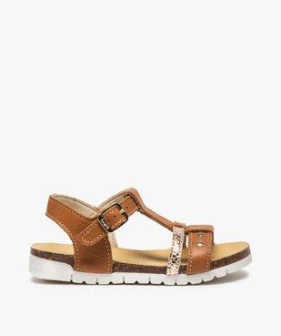 Sandales fille dessus cuir à semelle contrastante - Bopy vue1 - BOPY - GEMO