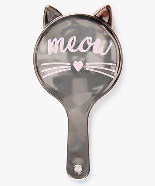 Brosse à cheveux femme pneumatique à tête ronde motif chat vue1 - GEMO (ACCESS) - GEMO