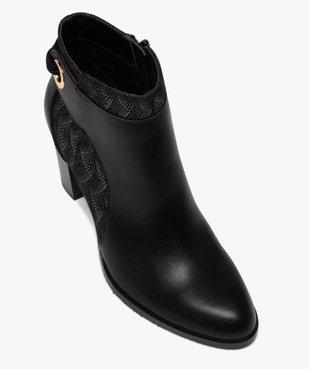 Boots femme à talon avec laçage fantaisie sur le contrefort vue5 - GEMO(URBAIN) - GEMO