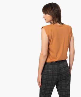 Tee-shirt femme à épaulettes sans manches vue3 - GEMO(FEMME PAP) - GEMO