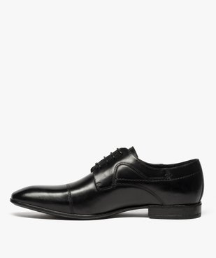 Derbies homme dessus cuir à bout carré vue3 - Nikesneakers(URBAIN) - Nikesneakers