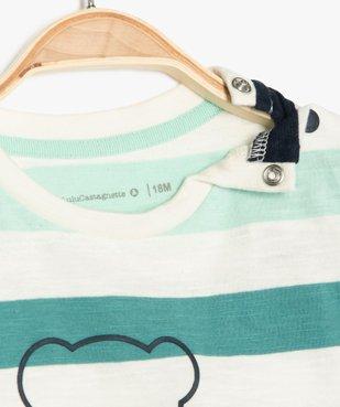 Tee-shirt bébé garçon à rayures et motif - Lulu Castagnette vue2 - LULUCASTAGNETTE - GEMO