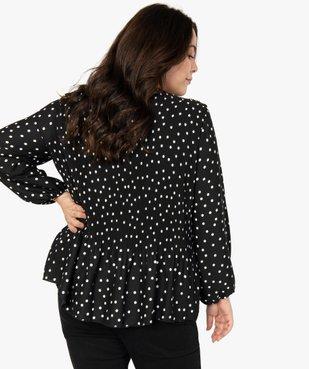 Blouse femme en voile plissé à motifs vue3 - Nikesneakers (G TAILLE) - Nikesneakers