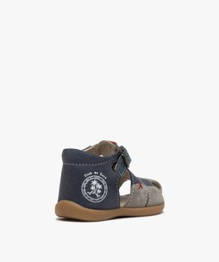 Sandales premiers pas bébé garçon en cuir vue4 - GEMO(BEBE DEBT) - GEMO