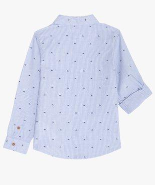 Chemise garçon à fines rayures et motifs vue5 - GEMO (ENFANT) - GEMO
