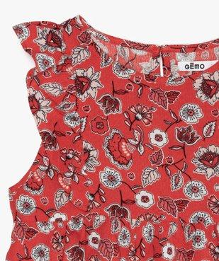 Blouse fille à motifs fleuris et volants sur les épaules vue2 - GEMO (ENFANT) - GEMO