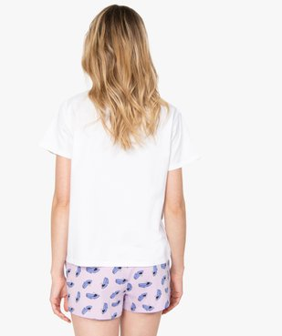 Pyjashort femme avec motif XXL - Disney vue3 - DISNEY DTR - GEMO