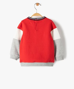 Sweat bébé garçon tricolore - Lulu Castagnette vue3 - LULUCASTAGNETTE - Nikesneakers