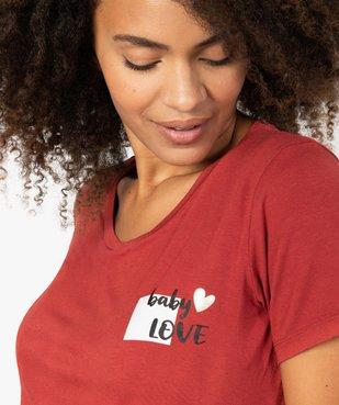 Tee-shirt de grossesse avec inscription vue2 - GEMO (MATER) - GEMO