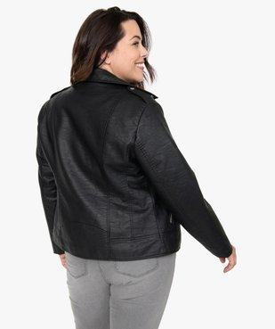 Veste femme esprit biker avec fermetures zippées vue3 - GEMO (G TAILLE) - GEMO