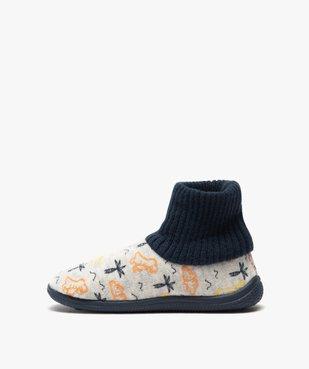 Chaussons garçon boots en velours et col chaussette vue3 - Nikesneakers C4G GARCON - Nikesneakers