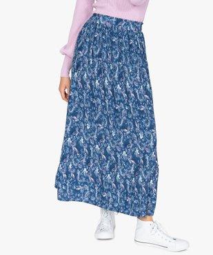 Jupe femme longue plissée à motifs vue1 - GEMO(FEMME PAP) - GEMO