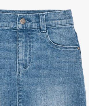 Jupe fille en jean extensible vue3 - GEMO (ENFANT) - GEMO