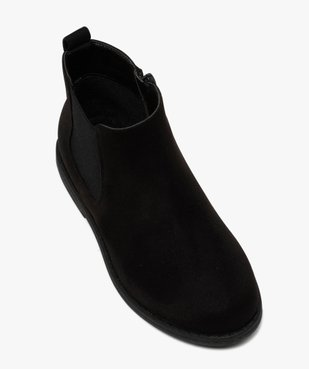 Boots fille style chelsea en suédine unie vue5 - Nikesneakers (ENFANT) - Nikesneakers