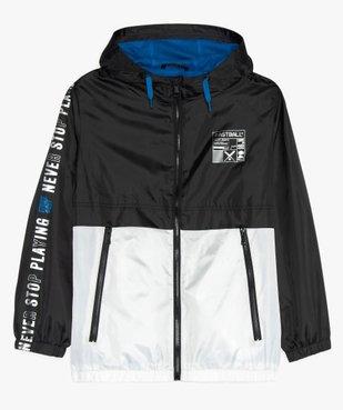 Blouson garçon coupe-vent bicolore avec capuche vue2 - Nikesneakers (JUNIOR) - Nikesneakers