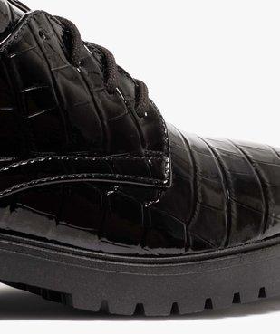 Derbies femme unis et vernis avec semelle crantée vue6 - Nikesneakers (CASUAL) - Nikesneakers