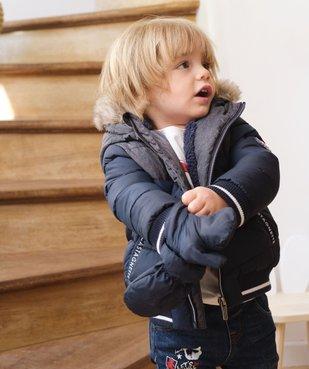 Blouson bébé garçon avec moufles amovibles - Lulu Castagnette vue1 - LULUCASTAGNETTE - GEMO