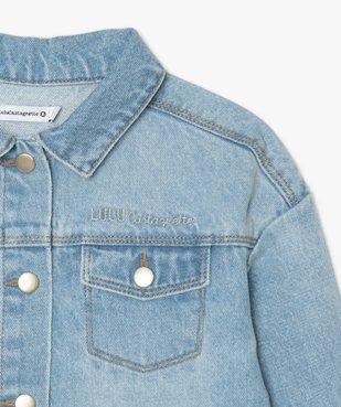 Veste fille en jean – Lulu Castagnette vue3 - LULUCASTAGNETTE - GEMO