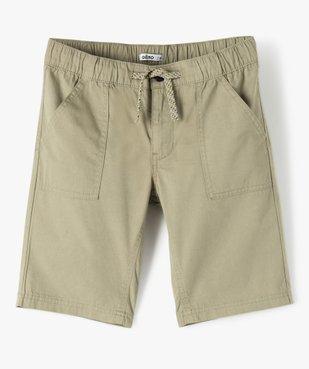Bermuda garçon en toile avec poches surpiquées vue1 - GEMO (ENFANT) - GEMO