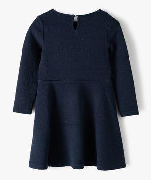 Robe fille à manches longues en maille texturée – Lulu Castagnette vue3 - LULUCASTAGNETTE - Nikesneakers