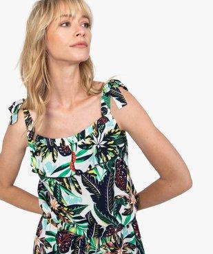 Robe femme courte à bretelles vue2 - GEMO(FEMME PAP) - GEMO