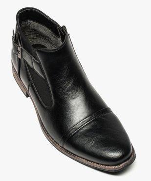 Boots homme fermeture zippée avec bloucle sur le côté vue5 - GEMO (HOMME) - GEMO