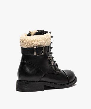 Boots fille à col rembourré fermeture lacets et zip vue4 - GEMO (ENFANT) - GEMO