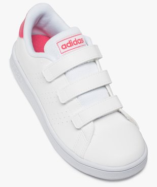 Baskets fille unies trois bandes scratch – Adidas vue5 - ADIDAS - Nikesneakers