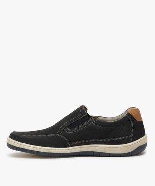 Chaussures bateau homme dessus cuir perforé – Terre de Marins vue3 - TERRE DE MARINS - GEMO