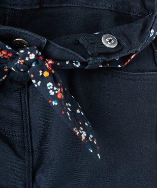 Pantalon bébé fille à ceinture fleurie - Lulu Castagnette vue3 - LULUCASTAGNETTE - GEMO