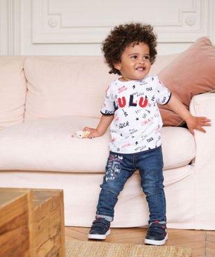Jean bébé garçon délavé avec ceinture – Lulu Castagnette vue6 - LULUCASTAGNETTE - GEMO
