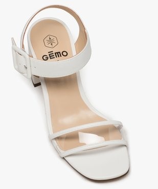 Sandales femme à talon carré et bride transparente vue5 - GEMO(URBAIN) - GEMO