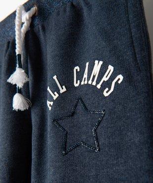Pantalon de jogging fille avec ceinture pailletée – Camps United vue3 - CAMPS UNITED - GEMO