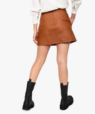 Jupe femme en synthétique imitation cuir avec ceinture vue3 - GEMO(FEMME PAP) - GEMO