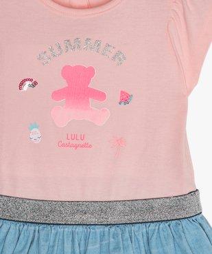 Robe bébé fille effet 2-en-1 - Lulu Castagnette vue2 - LULUCASTAGNETTE - GEMO