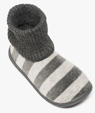 Chaussons bébé à rayures avec tige façon chaussettes vue5 - GEMO (ENFANT) - GEMO