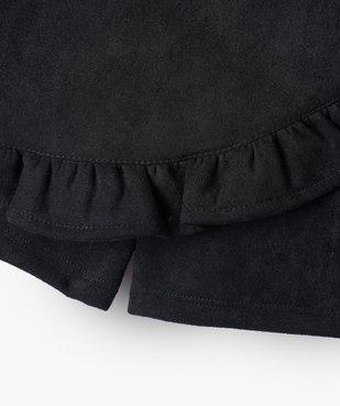 Jupe-short fille en velours à taille élastiqué vue2 - GEMO (ENFANT) - GEMO