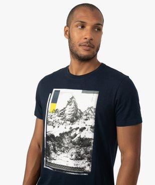 Tee-shirt homme avec motif montagne vue2 - GEMO (HOMME) - GEMO