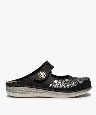 Sabots femme confort à bride scratch et motif floral vue1 - Nikesneakers (CONFORT) - Nikesneakers