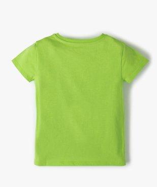 Tee-shirt fille uni à manches courtes  vue3 - GEMO C4G FILLE - GEMO