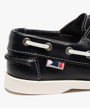 Chaussures bateau garçon dessus cuir à fermeture scratch vue6 - GEMO (ENFANT) - GEMO
