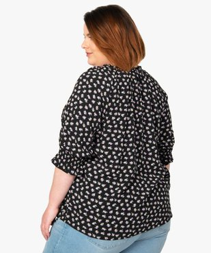 Blouse femme imprimée à manches ¾  vue3 - Nikesneakers (G TAILLE) - Nikesneakers