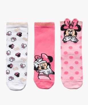 Chaussettes enfant tige haute imprimées Minnie - Disney (lot de 3) vue1 - DISNEY DTR - Nikesneakers